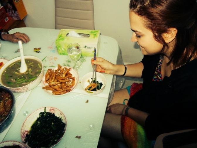 Eating Chicken Feet in Changjiang